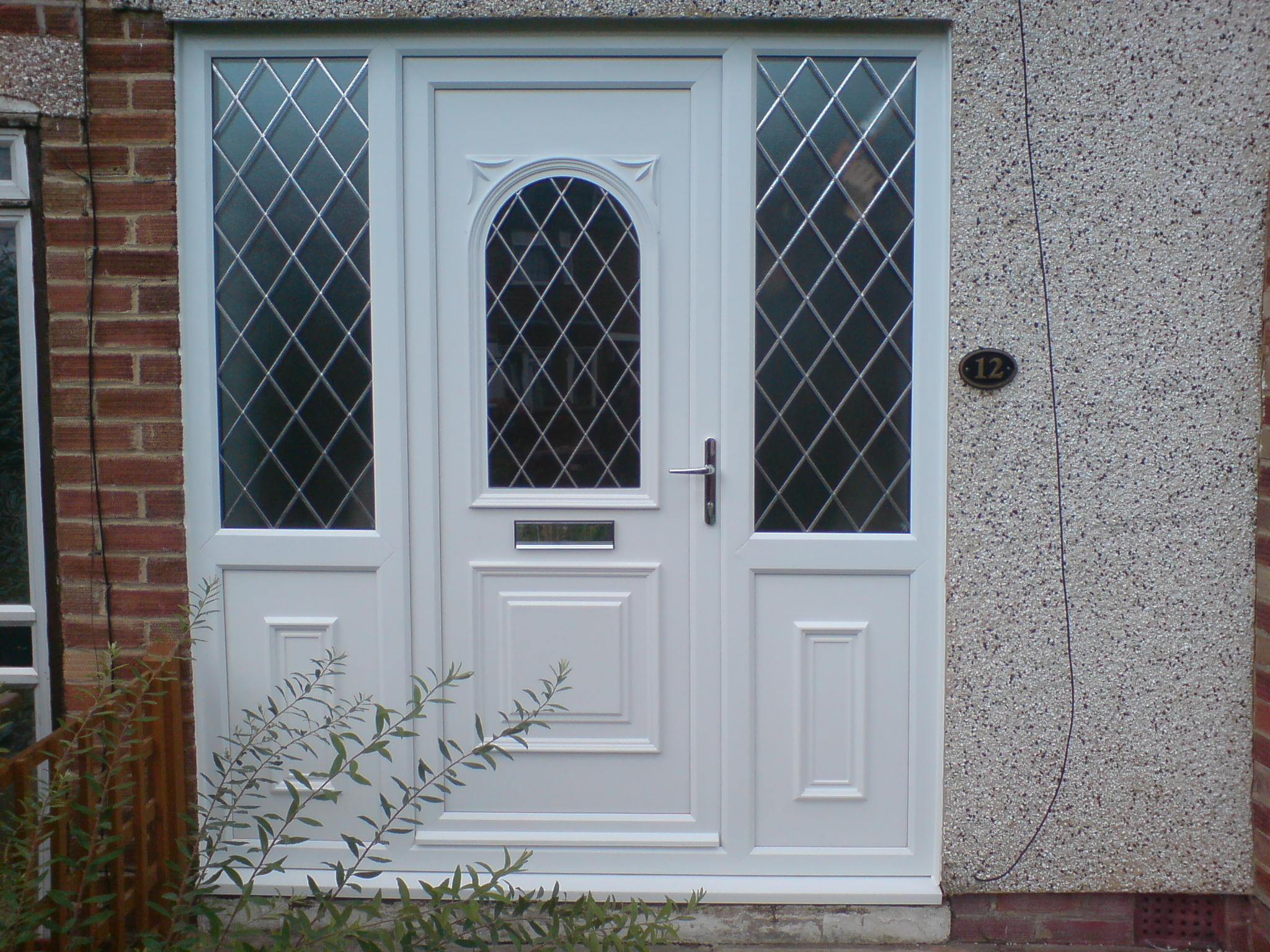 Double glazed door with side panels