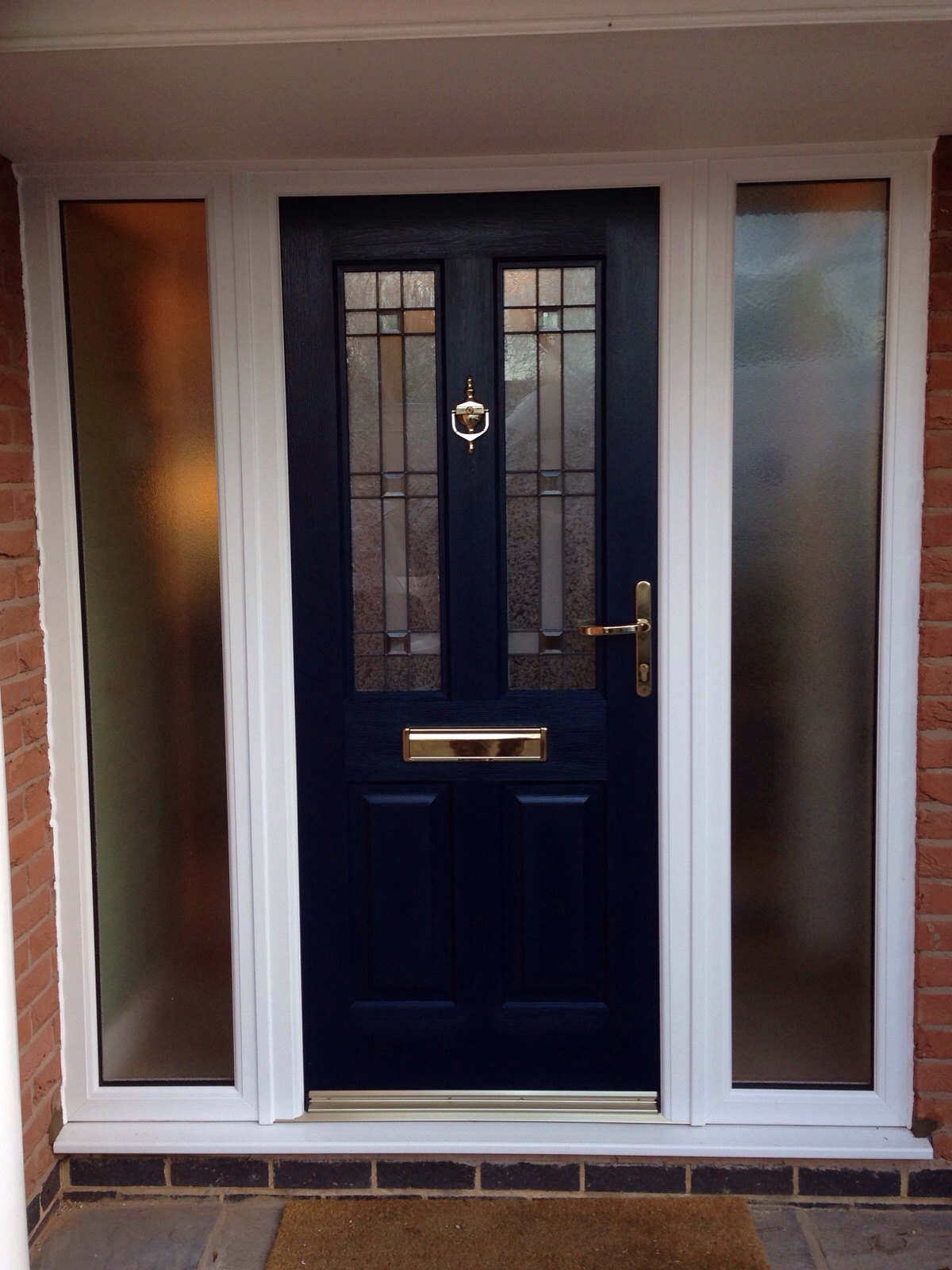 GRP door with side panels