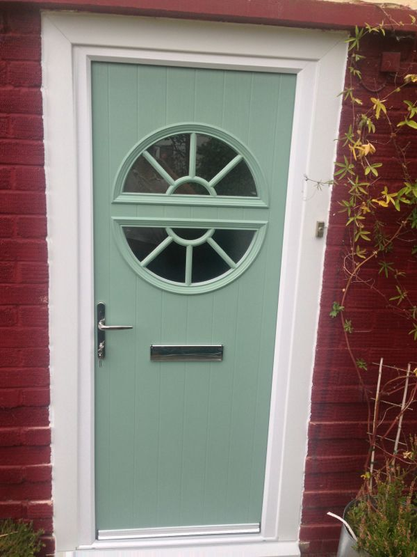 Green GRP door 2