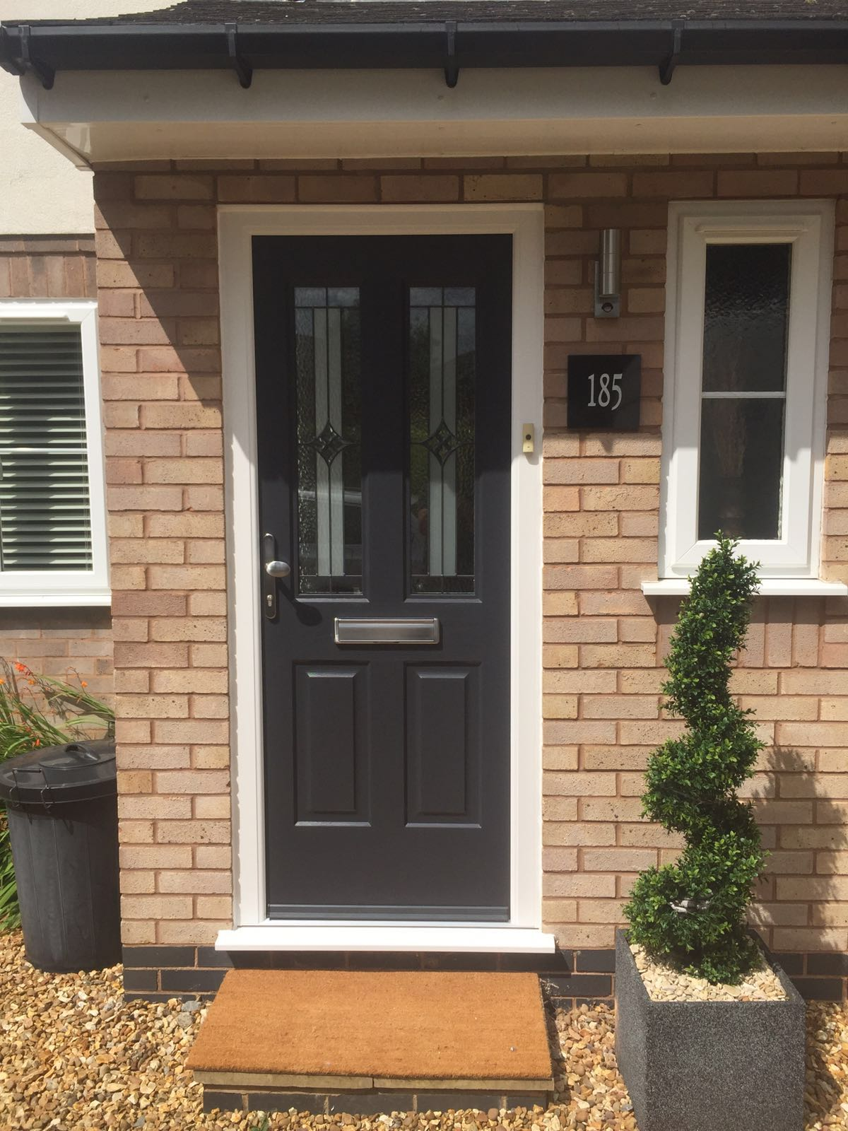 Grey GRP door