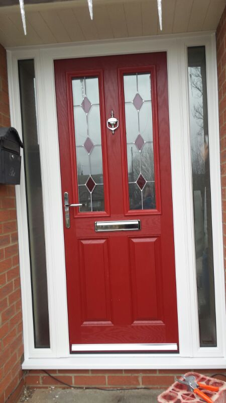 Red GRP door