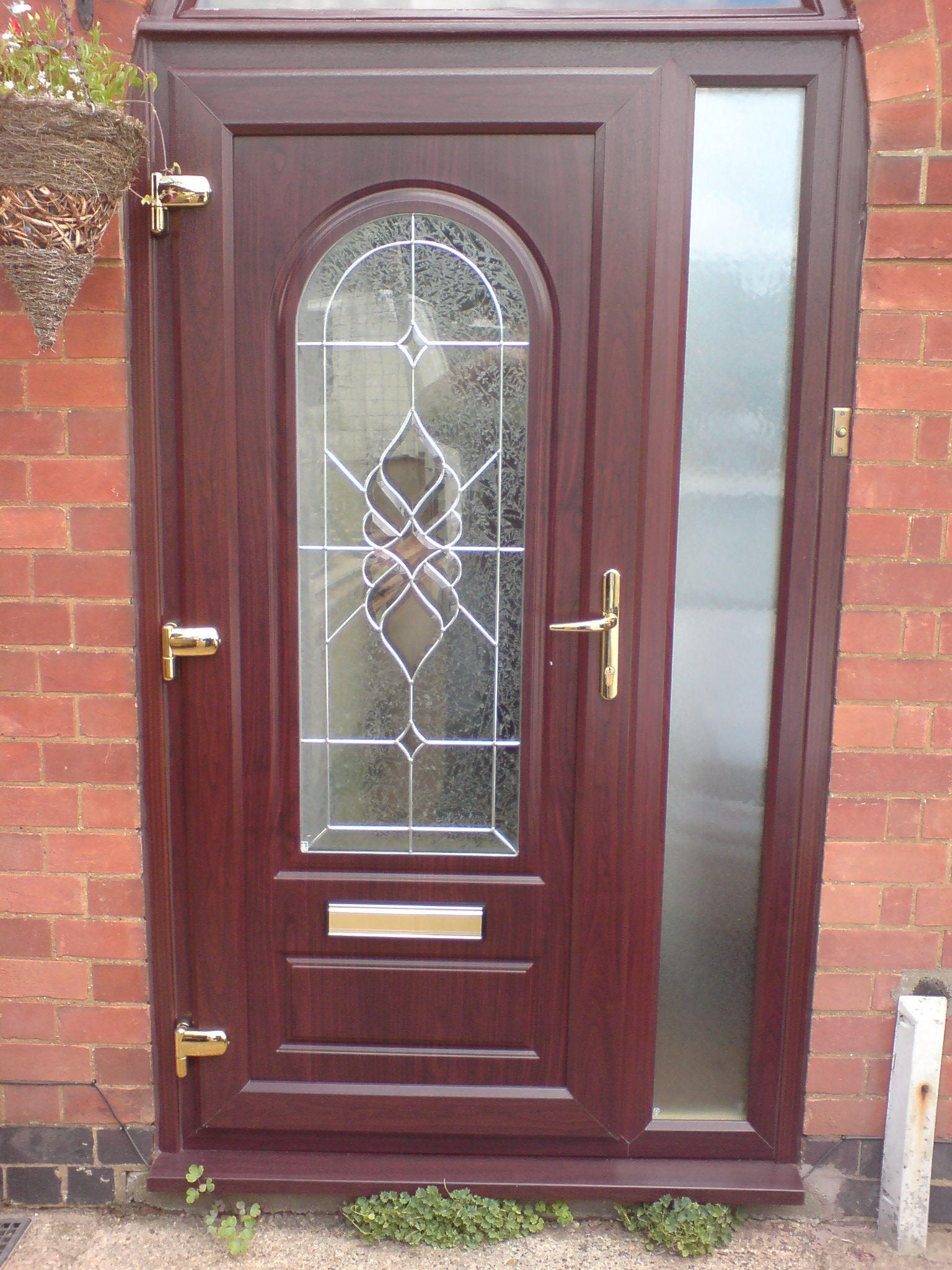 Woodgrain double glazed door 100