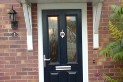 Blue GRP door