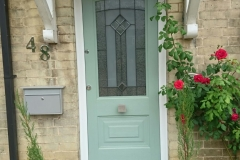 Green GRP door