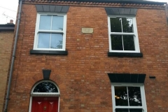 Box sash replacement windows front