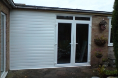 French doors with cladding